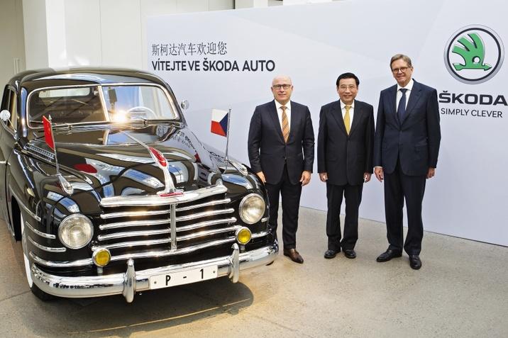 Kínai delegáció ŠKODA-nál