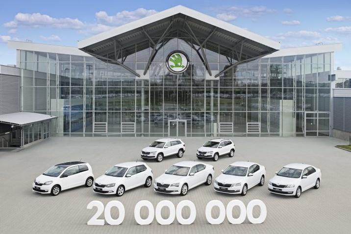 20 millió legyártott ŠKODA